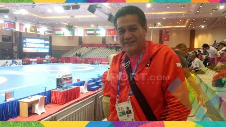 Gusti Randa, Manajer Tim Gulat Indonesia. - INDOSPORT