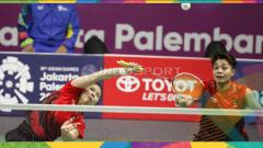 Indosport - Greysia Polii/Apriyani Rahayu saat lawan Jepang di Asian Games 2018.