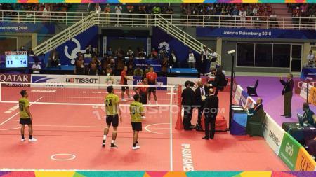 Sepak takraw Indonesia kalah dari Malaysia di semifinal dan mendapat perunggu. - INDOSPORT