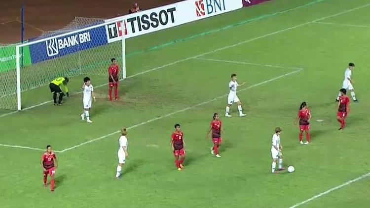 Timnas sepakbola putri Indonesia takluk 12-0 dari tim Korea. Copyright: Twitter.com/SCTV_