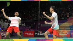 Indosport - Fajar Alfian/Rian Ardianto memastikan diri ke semifinal Asian Games 2018.