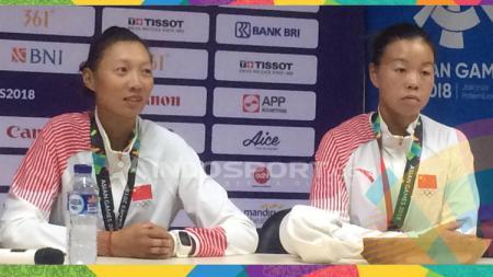 Atlet dayung putri China di Asian Games 2018. - INDOSPORT