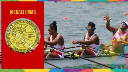 Cabor dayung Indonesia berhasil sabet medali emas di Asian Games 2018. - INDOSPORT