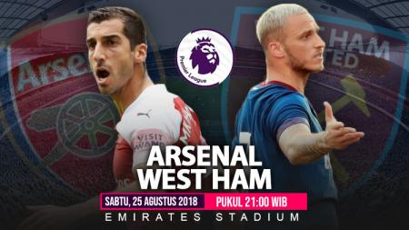 Arsenal vs West Ham United. - INDOSPORT
