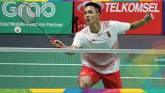 Indosport - Jonatan Christie di Asian Games 2018.