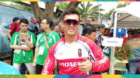 Atlet BMX Indonesia, I Gusti Bagus Saputra, meraih medali perak Asian BMX Cycling Championship 2019. - INDOSPORT