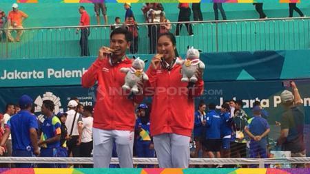 Christopher Rungkat dan Aldila Sutjiadi menjadi dua nama yang diplot Indonesia untuk merebut medali emas tenis SEA Games 2019. - INDOSPORT