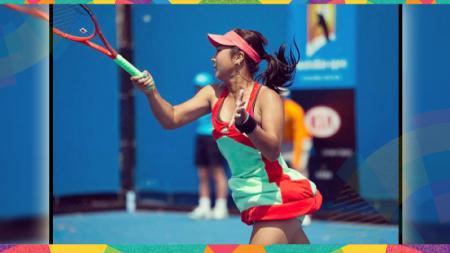Petenis putri Indonesia, Aldila Sutjiadi, harus tersingkir di babak kedua turnamen ITF W25 Makinohara, Jepang, pada Kamis (10/10/19). - INDOSPORT