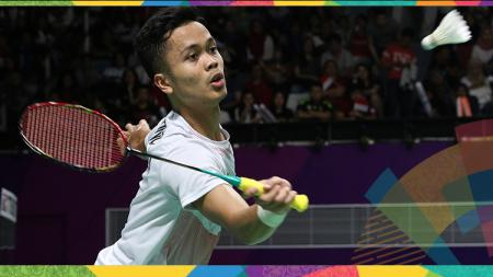 Anthony Sinisuka Ginting berhasil melangkah ke babak perempat final bulu tangkis nomor tunggal putra Asian Games 2018. - INDOSPORT