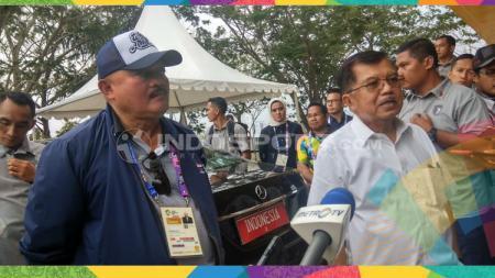 Wapres Jusuf Kalla mengunjungi Jakabaring Sport City. - INDOSPORT