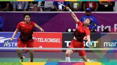 Indosport - Greysia Polli/Apriyani Rahayu saat tampil di peremparfinal Asian Games 2018.
