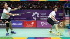 Indosport - Tontowi/Liliyana di babak semifinal Asian Games 2018.