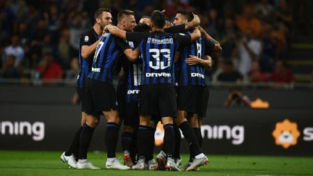 Selebrasi pemain Inter Milan. - INDOSPORT