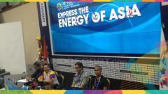 Indosport - Panitia lokal gelar jumpa pers soal closing ceremony Asian Games 2018.