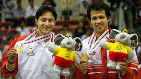 Ricky Subagja dan Rexy Mainaky di Asian Games Thailand 1998 - INDOSPORT