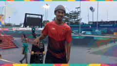 Indosport - Pevi Permana, atlet skateboard nomor Park Series dari Indonesia.