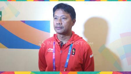 Pelatih tim karate Indonesia, Syamsuddin Barkhani. - INDOSPORT