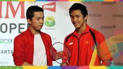 Indosport - Jonatan Christie - Taufik Hidayat.