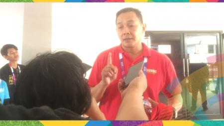 Pelatih timnas basket putri Arif Gunarto di Asian Games 2018. - INDOSPORT