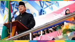 Indosport - Prabowo Subianto saat berpidato.