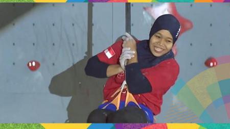 Atlet panjat tebing putri Indonesia, Puji Lestari. - INDOSPORT