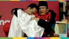 Indosport - Hanifan Yudani membuat Jokowi dan Prabowo berpelukan.