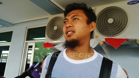Penjaga gawang Persib Bandung yang saat ini dipinjamkan ke Bandung United, Muhammad Natshir mengungkapkan perjalanannya yang sempat ingin menjadi atlet bulutangkis. - INDOSPORT