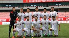 Indosport - Timnas U16 Iran jelang laga Piala Asia U-16 2018.