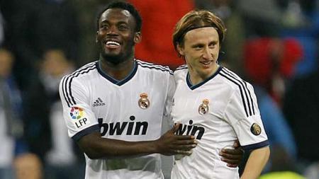Michael Essien saat masih bermain di Real Madrid. - INDOSPORT