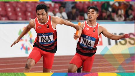 Lari Estafet 4x100 meter Indonesia di Asian Games 2018 tampil cukup gemilang. - INDOSPORT