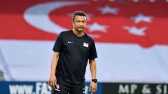 Indosport - Fandi Ahmad besut Timnas Singapura di Piala AFF 2018.