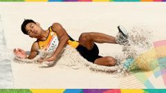 Indosport - Hakimi Ismail, atlet lompat jangkit asal Malaysia.