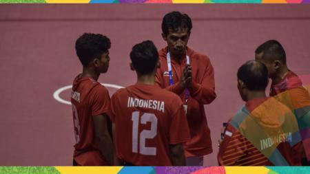 Pelatih sepaktakraw Indonesia, Asry Syam. - INDOSPORT