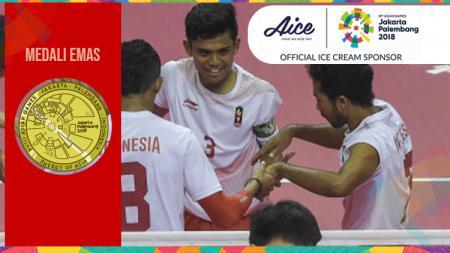 Tim sepak takraw putra Indonesia berhasil sumbang medali emas di Asian Games 2018. - INDOSPORT