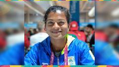 Indosport - Sarita Gaikwad pelari asal India.