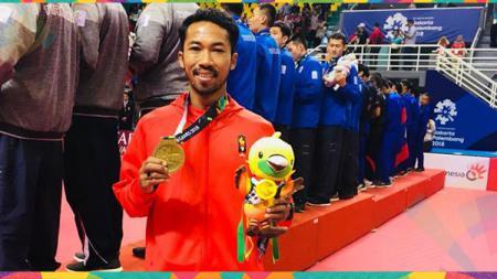Saiful Rijal raih medali emas di Asian Games 2018. - INDOSPORT