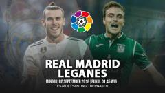 Indosport - Real Madrid vs Leganes.