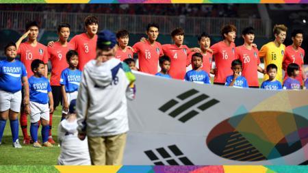 Timnas Korsel yang tampil dalam ajang Asian Games 2018. - INDOSPORT
