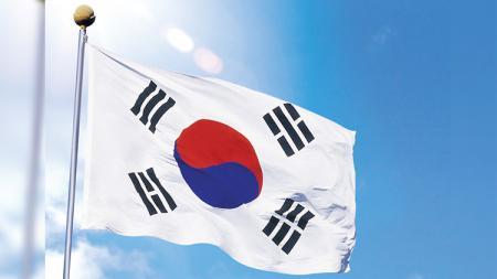 Bendera Korea Selatan. - INDOSPORT