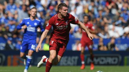 James Milner saat laga kontra Leicester City. - INDOSPORT