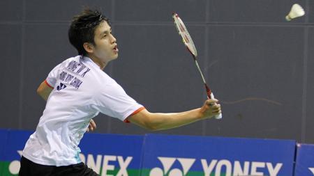 Pebulutangkis Hong Kong Vincent Wong Wing Ki keturunan Indonesia. - INDOSPORT