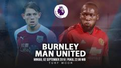 Indosport - Burnley vs Manchester United.
