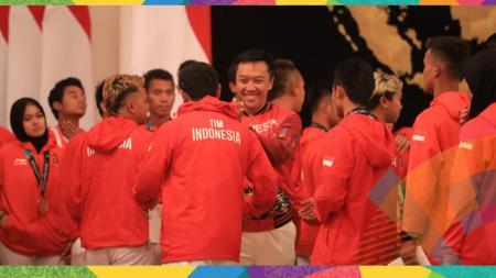 Pemberian bonus atlet berprestasi peraih medali Asian Games 2018 di Istana Negara Jakarta. - INDOSPORT
