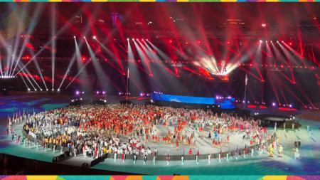 Kemeriahan penutupan Asian Games 2018. - INDOSPORT