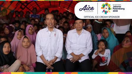 Jokowi dan TGB sapa penutupan Asian Games 2018 bersama masyrakat di Lombok. - INDOSPORT