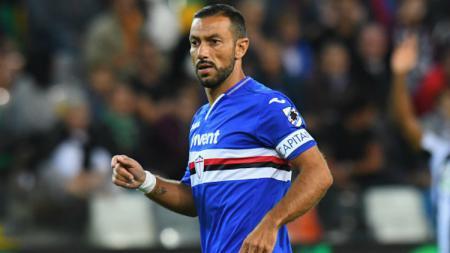 Fabio Quagliarella, pemain Sampdoria. - INDOSPORT