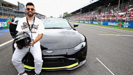 Striker Manchester City diketahui menyaksikan balapan GP Italia - INDOSPORT