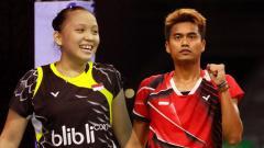 Indosport - Pasangan ganda campuran Indonesia Winny Oktavina Kandow/Tontowi Ahmad.