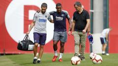 Indosport - Malcom mengalami cedera pada sesi latihan Barcelona (03/09/18).