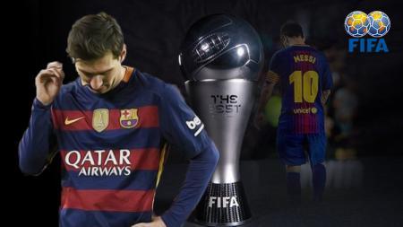 Lionel Messi tidak termasuk dalam daftar pemain terbaik versi FIFA. - INDOSPORT